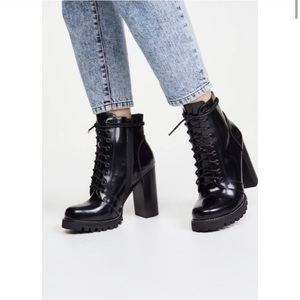 Jeffrey Campbell legion heeled lace up boots 8.5